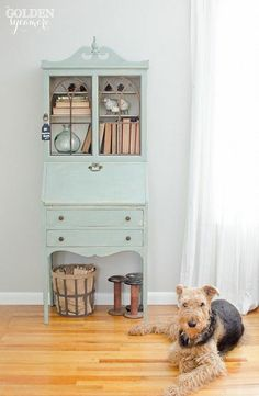 I can't wait to paint my old wooden desk a lighter color like this one!