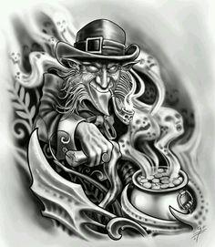 Tattoo Ideas For Guys Celtic For Men Ideas Evil Clown Tattoos, Evil Skull Tattoo, Skull Tattoos, Sleeve Tattoos, Tattoo Design Drawings, Tattoo Sketches, Tattoo Designs, Trendy Tattoos, Jester Tattoo