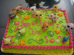 little pet shop cakes   Little Pet Shop Cake Chloe decorated herself.
