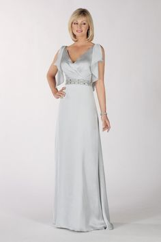 A-line V-neck Flutter Sleeves Beaded Chiffon Mother Of The Bride Dress-mob0013, $194.95