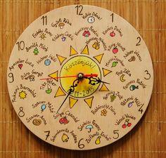 Ballagási Ajándék Falióra Decorative Plates, Clock, Wall, Gifts, Gift Ideas, Home Decor, Creative, Watch, Presents