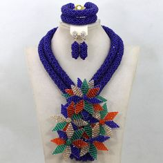 2017 Royal Blue Nigerian Wedding Chunky Beads Jewelry Set African Crystal Flower Brooch Women Necklace Set Free Shipping QW349 -- AliExpress Affiliate's Pin. Clicking on the VISIT button will lead you to find similar product