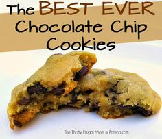 Look no further for the perfect chocolate chip #cookie recipe! They're super soft on the inside and slightly crispy on the outside. (They're so good you'll probably want to make an extra batch!): http://www.parents.com/blogs/thrifty-frugal-mom/2013/06/11/the-thrifty-frugal-mom/tasty-tuesday-best-ever-soft-chocolate-chip-cookies/?socsrc=pmmpin130611fChocolateChip