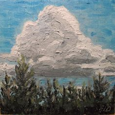 Evelyn Oldroyd's  Painting Blog: Summer Clouds Painting Gallery, Art Blog, Clouds, Water, Artist, Summer, Outdoor, Gripe Water, Outdoors