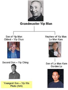 Ip (Yip) Man (葉問) 1893-1972 Grand master Ip Manwas the first master to teach the martial art of Wing Chun Kung Fu openly. He had several students who later became famous in their own right, includ...