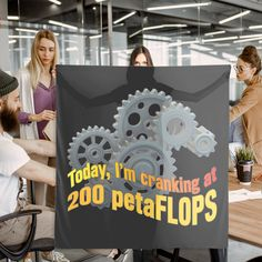 """""""Today, I'm cranking at 200 petaFLOPS."""" Let everyone know you're having a super productive day. Be a """"glass half full"""" kind of person…with a quirky sense of humor. #findyourthing #redbubble #computerscience #computer #coder #programmer #developer #scarf #scarves #scarfs"""