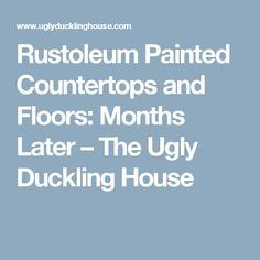 Rustoleum Painted Countertops and Floors: Months Later – The Ugly Duckling House