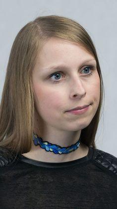 TEOREM » Choker Maia – modrý se žlutou Turquoise Necklace, Chokers, Outfit, Jewelry, Fashion, Outfits, Moda, Jewlery, Jewerly