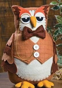 An owl with a monocle