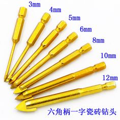 7 pcs/lot Tile drill bits of glass triangular ceramic drill holes drilled alloy hole punch to take Carved glass and porcelain #Affiliate