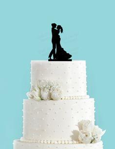 Bride and Bride Couple Dancing Acrylic Wedding Cake Topper, Same Sex Cake Topper, Lesbian Cake Topper