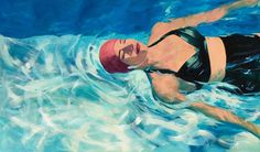 Tracey Sylvester Harris Peaceful Swimmer Oil on canvas x Skidmore Contemporary Art Like My Mother Does, Out Of My Mind, Love Movie, Ballet Dancers, Private Pool, Art Plastique, Contemporary Artists, Big Kids, Oil On Canvas