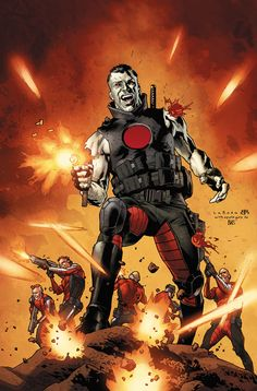 "BLOODSHOT AND H.A.R.D. CORPS #15 All-new arc, all-new jumping-on point! ""GET SOME!"" starts here!  Bloodshot and the expendable commandos of H.A.R.D. Corps face off against a network of terrorist saboteurs in the heart of the Persian Gulf!  $3.99/T+ JANUARY 8th!"