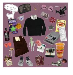 """Demons"" by laurentheghostgirl ❤ liked on Polyvore featuring CASSETTE, Lauren Ralph Lauren, rag & bone, Band of Outsiders, Polaroid, Chanel and Anne Klein"