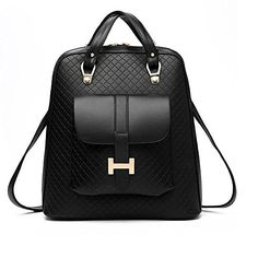 Ms bag shoulder bag fashion handbags Korean tidal backpack college wind pu leather travel bag *** See this great product.