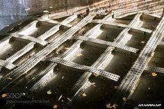 bridge reflection in canal by taragordon