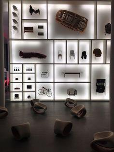 Audi design wall at Pinakothek der Moderne Munich Germany:
