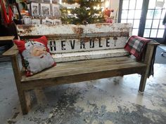 benches made from truck tail gate   | benches..... they are made from recycled vintage truck tailgates ...