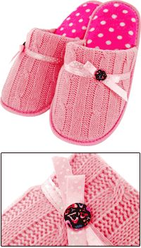 Not big on pink, but these are cute and comfy looking. These were posted by a pinner who received these as a gift.
