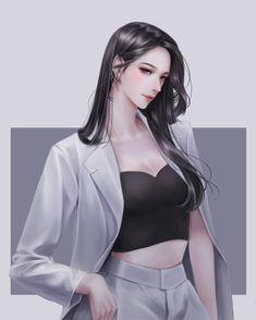 Girls Anime, Cool Anime Girl, Beautiful Anime Girl, Manga Girl, Anime Art Girl, Manga Anime, Female Character Design, Character Art, Anime Sisters