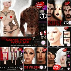 THIRD LIFE [ Frees, Gifts & Hunts ]: PASSION TATTOOS - COME AWAY WITH ME