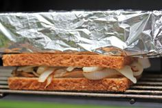 Use a Foil Covered Brick on the grill...to make paninis!