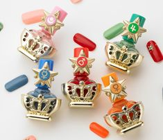 Sailor Moon themed nail polish from Baidai, pre-order info @ http://www.sailormooncollectibles.com/2013/06/10/new-sailor-moon-nail-polish-set/