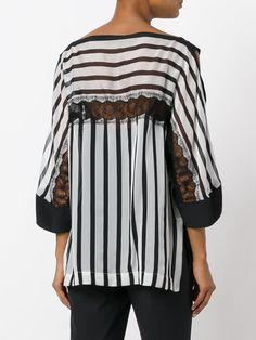 7ec69dacc4c3 Alberta Ferretti блузка с кружевной отделкой Bluser Til Kvinder
