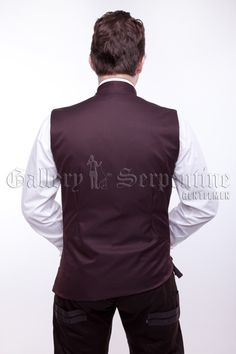 This is the last Tesla waistcoat available in a dark chocolate brown fabric with bronze collars.