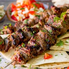 Marinated succulent lamb, juicy and beautifully charred. These Greek Lamb Souvlaki Kebabs are so tasty. Cook them on the BBQ for added flavour! Kebab Recipes, Lamb Recipes, Greek Recipes, Real Food Recipes, Lamb Kebab Marinade, Greek Lamb Marinade Recipe, Greek Lamb Souvlaki Recipe, Lamb Skewers, Kabobs