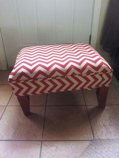 DIY Chevron foot stool! Too cute