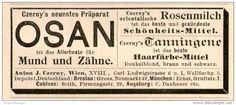 Original-Werbung/Inserat/ Anzeige 1900 : OSAN FÜR MUND UND ZÄHNE ca. 40 X 90 mm