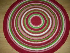Crochet round rug 47'' 120 cm/Crochet by AnuszkaDesign on Etsy, $120.00