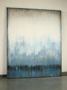 blue silence 2016 - 120 x 100 cm - Mischtechnik auf Leinwand Christian Hetzel