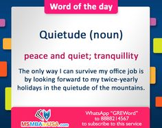 #gre #greword #wordoftheday #msinusa Word Of The Day, New Words, The Only Way, How To Get, Peace, Learning, Word A Day, Studying, Study