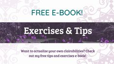 Michelle Beltran shares her free ebooks on developing psychic sensibilities! Psychic Development, Psychic Mediums, Free Tips, Psychic Abilities, Spirit Guides, Training Courses, Free Ebooks, Fitness Tips