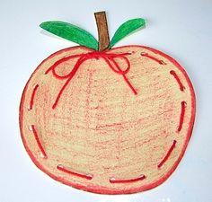 Apple Tree Song & Apple Lacing Craft For Kids (from Kiboomu Kids Songs) Apple Activities, Autumn Activities, Craft Activities, Autumn Crafts, Fall Crafts For Kids, Art For Kids, Craft Kids, Fall Preschool, Preschool Crafts