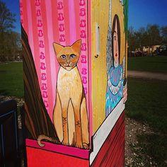 Pump room kitty #streetart #Tartu #supilinn #tänavakunst #naivism #kawaiivandalism #kairo