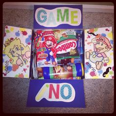 Military care package. Game box theme! #deployment #milso #militarycarepackage