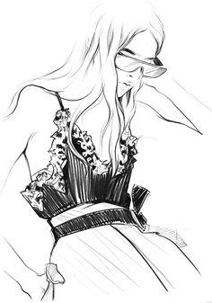 Alena Lavdovskaya #fasjion #illustration #art