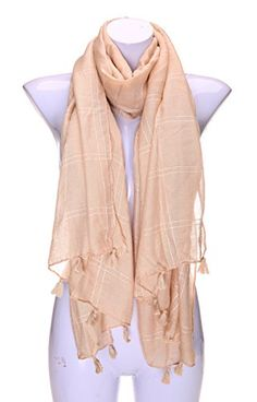 Velice Women's Fashion Knit Long Twist Scarf Girls Winter Warm Shawl (Beige) -- For more information, visit image link. We are a participant in the Amazon Services LLC Associates Program, an affiliate advertising program designed to provide a means for us to earn fees by linking to Amazon.com and affiliated sites.