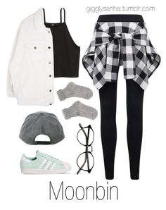 """Study Date // Moonbin"" by suga-infires ❤ liked on Polyvore featuring adidas"