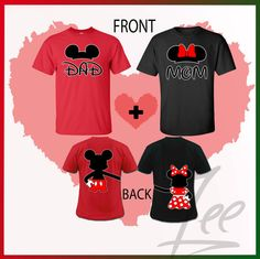 Couple T-shirt Mom and Dad disney shirtsMix and match por AMYnZEE