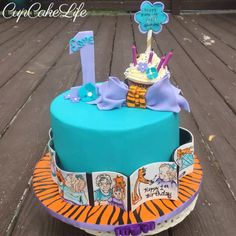 Hand painted cakes are some of my favorite things to make. This Calvin & Hobbs comic style cake was especially fun. The colors were great! The little additional cupcake was special too, because the Birthday Girl and Grandma birthday is the same. What a treasure!