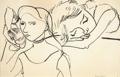 Marguerite in Three Poses  Henri Matisse
