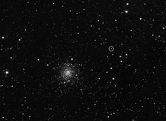 "The Rosetta spacecraft saw its destination (Comet 67P/Churymov-Gerasimenko) on March 20, 2014 from about three million miles (five million kilometers) away. The comet is in the small circle next to the globular star cluster M107. (credit: ESA/MPS for OSIRIS-Team MPS/UPD/LAM/IAA/SSO/INTA/UPM/DASP/IDA) Mona Evans, ""Rosetta the Comet Chaser"" http://www.bellaonline.com/articles/art182574.asp"