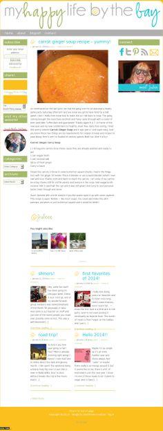 The website 'myhappylifebythebay.com' courtesy of @Pinstamatic (http://pinstamatic.com)