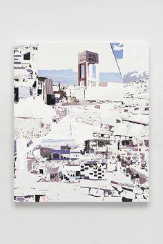 """City of Sillar No. 2, 2014, Mixed Media on Canvas, 47 7/8"""" x 56 ½"""""""