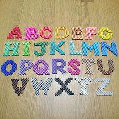 Alphabet perler beads by yuria2080