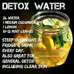 Mint, lemon & cucumber water